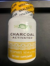 Nature's Way Charcoal Activated 560mg 100 capsule Exp. 12/23+ - $10.92