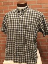 Ralph Lauren Mens L Button Front Shirt Greggor Cotton Plaid Shot Sleeve ... - $12.86