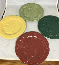 Longaberger Falling Leaves Pottery Plates - Set of 4 - In Original Packa... - $44.10
