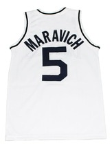 Pete Maravich #5 Daniel High School New Men Basketball Jersey White Any Size image 5
