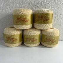 J&P Coats Crochet Thread Ball Lot of 5 Yarn Cream #42 Vintage Mercerized... - ₹1,198.23 INR