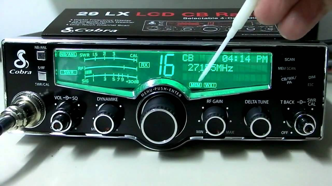 COBRA 29 LX 40 CHANNELS AM/PA CB RADIO