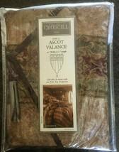 "Croscill Townhouse Ascot Valance 40""x21"" New Burgundy Gold Green 82757F ... - $42.74"