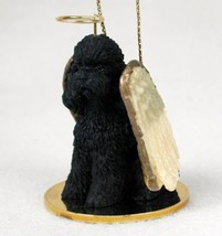 POODLE (BLACK SPORT CUT) ANGEL DOG CHRISTMAS ORNAMENT HOLIDAY Figurine S... - $12.98