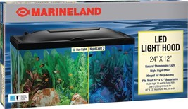 Marineland LED Light Hood for Aquariums Day & Night Light 24 by 12-Inch - $65.11