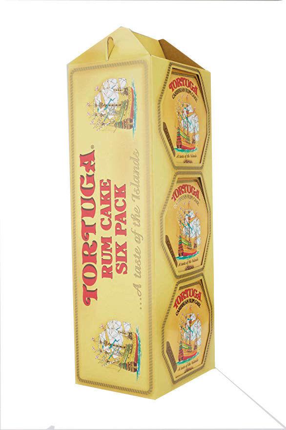 Tortuga Golden Original Rum Cake 4 oz- Pack of 6  Free Expedited Shipping
