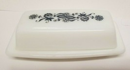 "Corelle Pyrex Old Town Blue Butter Dish 7"" X 3"" Table Top Compatibles - $24.18"