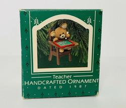 Vintage Hallmark Keepsake Handcrafted Ornament 'Teacher' 1987 - $12.84