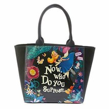 Disney Store JAPAN  Alice in WonderlandNight-made  tote bag Handbags black  - $92.07