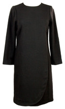 J Crew Women's Long Sleeve Shift Dress Wear to Work E6617 Black Tall T2 - $55.19