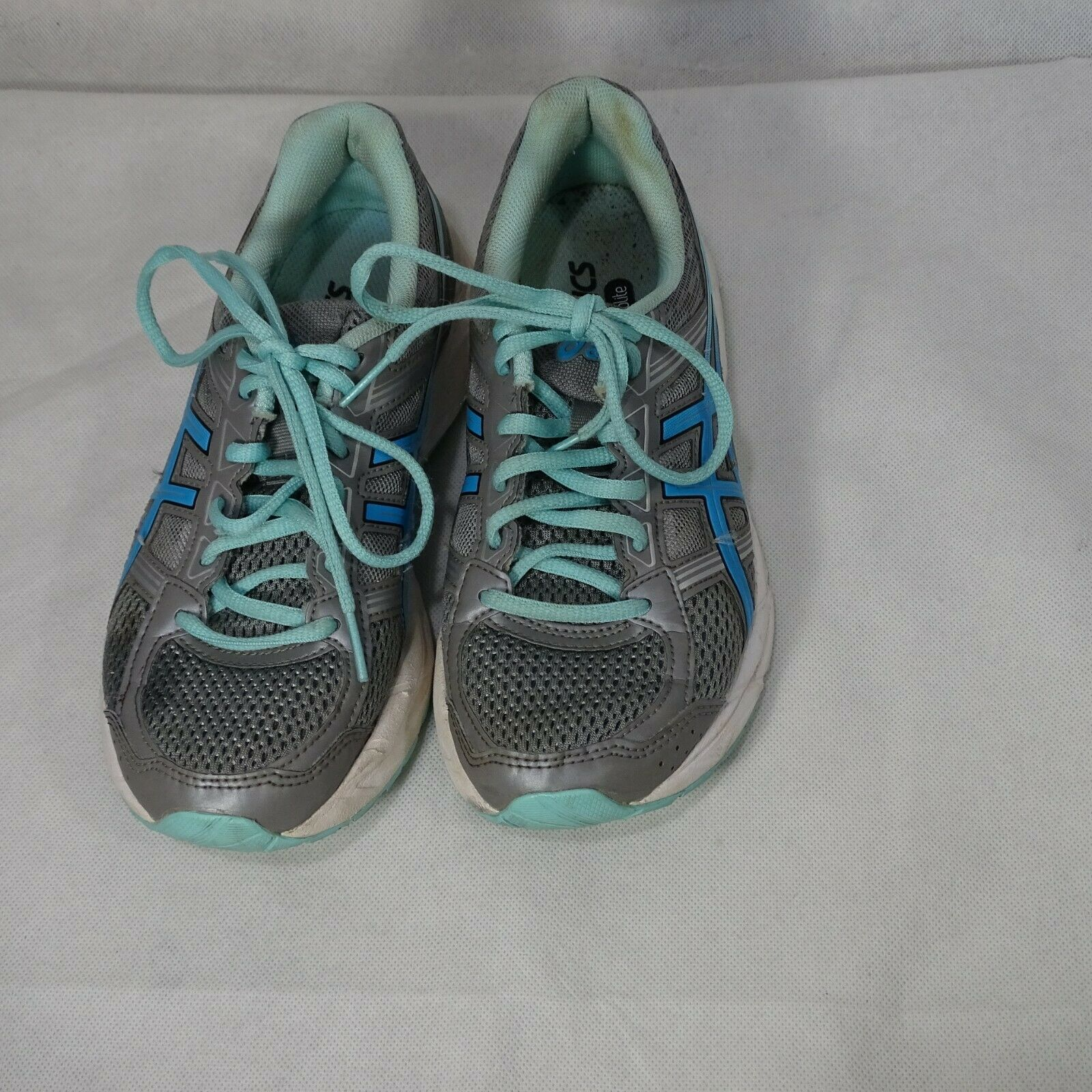 Asics Gel-Contend 4 Ortholite Sneakers Shoes Mesh Women Size 7 Gray Blue T767Q image 6