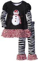 Bonnie Baby Baby Girls' Snowgirl Appliqued Legging Set, 2T - $35.64