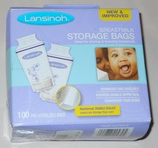 Lansinoh Breast Milk Storage Bags, 100 Count Perfect for Storing and Fre... - $18.81