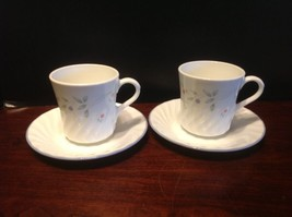 Corelle Corning English Meadow Swirl Cup and Saucer Lot Of 2 - $6.99