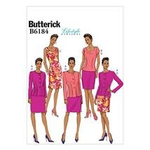 BUTTERICK PATTERNS B6184A50 Misses' Jacket Top, Dress Sewing Template an... - $3.89