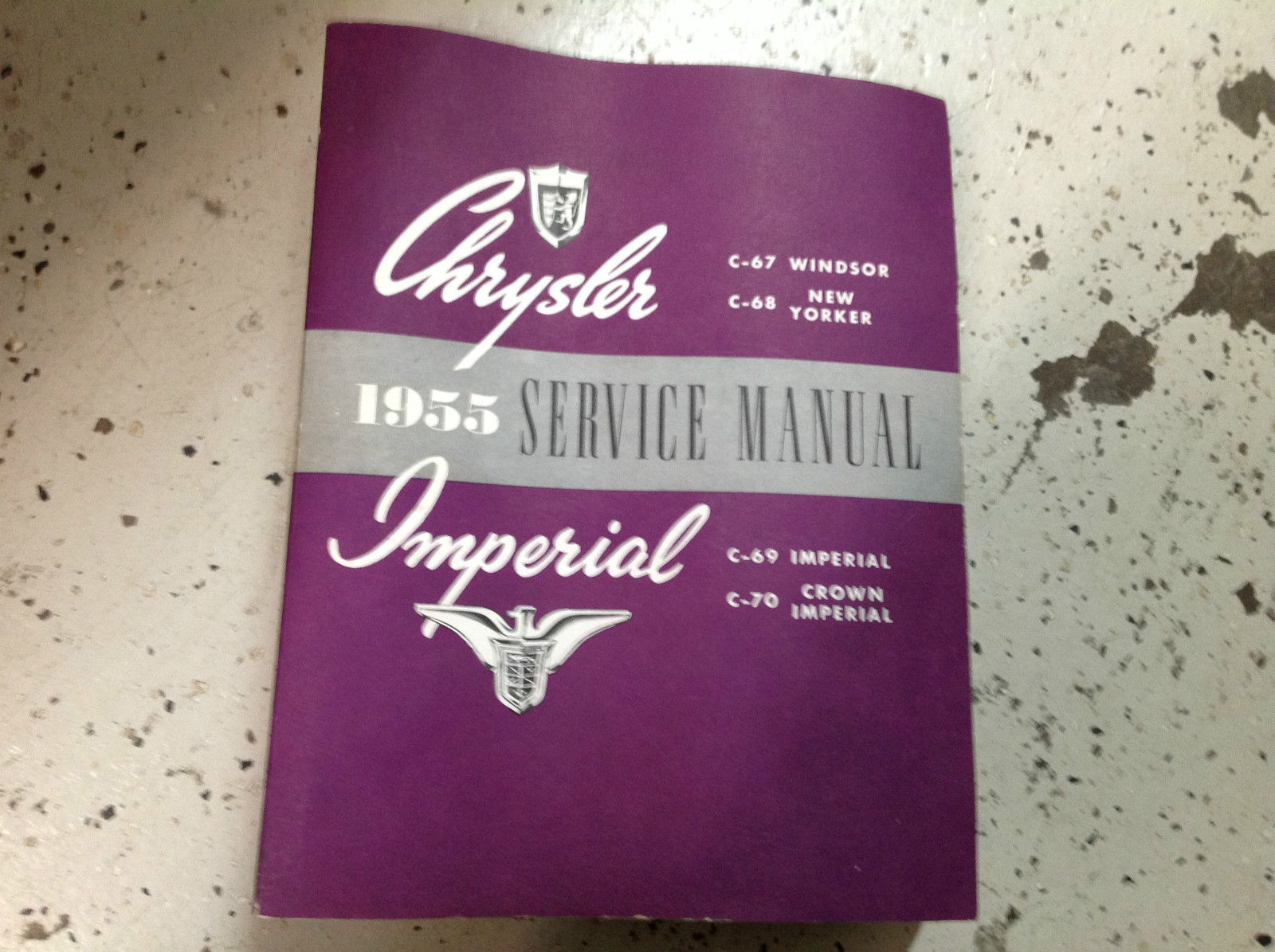 1955 CHRYSLER Windsor New Yorker Imperial Crown Imperial Service Shop Manual NEW