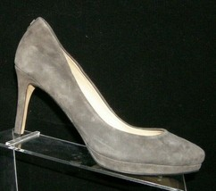 Ivanka Trump 'Sophia' gray suede almond toe slip on platform heels 7.5M 7171 - $33.30