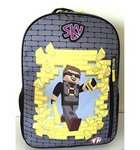 "Sky Tube Heroes Backpack 16"" Large Full Size School Travel Minecraft Budder - $32.66"