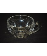 Vintage Elegant Heisey Colonial Clear Glass Punch Cup Panel Sides Starburst MCM - $8.90