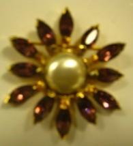Eisenberg Original with faux pearls & Purple Rhinestones - $84.15