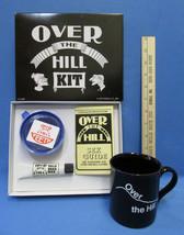 Over The Hill Coffee Mug Cup & Kit Sex Guide Head Wax Teeth Gag Gift Birthday - $15.83