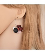 BAHYHAQ - Pearl Drop Temperament Plush Rose Flowers Hanging Earrings - $4.20
