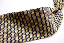 ROBERT TALBOTT  Gold metallic  G E O  Mens  100 SILK Necktie 92-4 - $17.99