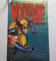 Wolverine Poster Marvel Comics Vintage 1994 Yellow Blue Costume 23 x 35 - $59.39
