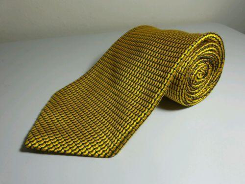 ROBERT TALBOTT MENS TIE WIDE Gold Fine Silk Hand Sewn Best Class price tag $85