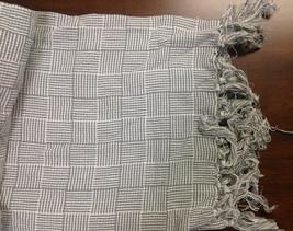 "Samantha Yanks Checkerboard Throw with Tassels, Size 50""X60"" - $21.77"