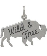 'Wild-And-Free' American Buffalo Charm 17.5x21mm, Pkg Of 1Pc (13154)/1 - $15.84