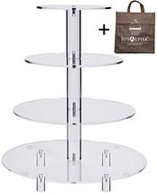 Jusalpha 4 Tier Acrylic Glass Round Cake Stand-cupcake Stand- Dessert St... - $28.00