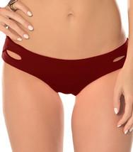 NEW BECCA Color Code Henna Tab Cutout Hipster Bikini Swim Bottom S Small - $17.81