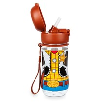 Disney Toy Story 4 Woody Sheriff Outfit Flip-Top Water Bottle New - $12.33