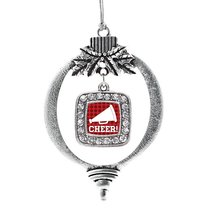 Inspired Silver Cheer Classic Holiday Christmas Tree Ornament With Crystal Rhine - $14.69