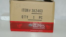 Sterling 382463 Santa Head 24 Inches Red Hat Rose Berries Gold Bow image 7