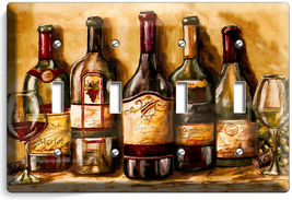 VINTAGE TUSCAN WINE BOTTLES COLLECTION LIGHT SWITCH OUTLET PLATES KITCHEN DECOR image 14