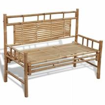 "vidaXL Garden Bench Sturdy Rustic 47.2"" Bamboo Outdoor Garden Seating Ar... - $77.99"