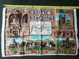 Pure Linen Tea Towel Battle of Bastinos Fast Colours Made in Ireland FS - $15.83