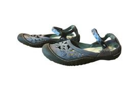 JBU By JAMBU Wildflower Maryjane Memory Foam Shoes Women's Size 9.5M Blue - $36.10