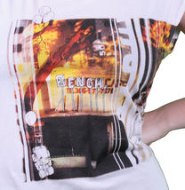Bench UK Womens White Watertown Building Fire Picture Sleeveless T-Shirt NWT image 3