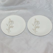 """ROSENTHAL CLASSIC ROSE VINTAGE BREAD PLATES 6"""" GERMANY SET OF 2 PLATE GO... - $14.21"""