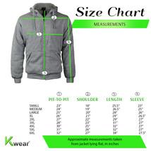 Men's Premium Athletic Soft Sherpa Lined Fleece Zip Up Hoodie Sweater Jacket image 2