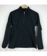 Magellan Outdoors Womens 1/4 Zip Fleece Pullover Top Shirt Size S Black - $12.99
