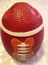 Football bowls ceramic 3 stackable 1 lid serving set vintage centerpiece... - ₹2,158.59 INR