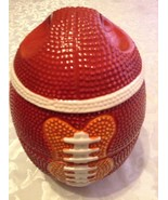 Football bowls ceramic 3 stackable 1 lid serving set vintage centerpiece... - $29.99