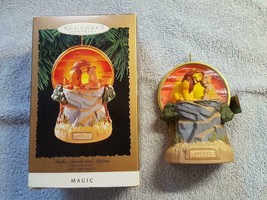 1994 Lion King Simba, Sarabi & Mufasa Ornament Music & Light Hallmark Keepsake - $14.95