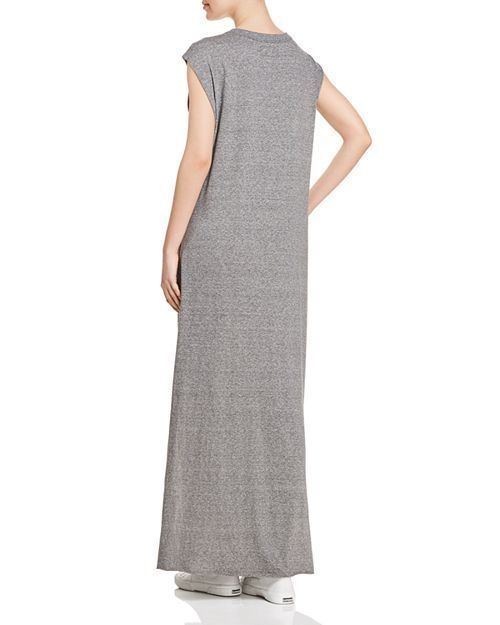 NEW 148$ Current Elliott T Shirt Dress The Delphi Maxi Tee Gray *0-3 image 2