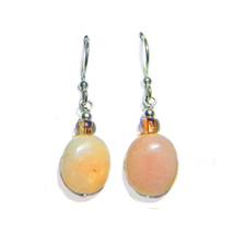 """Glass Bd/ Peruvian Pink Opal Sterling Silver 1/2"""" Drop Earrings - $21.99"""