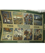 Burlington Resources OilField Petroleum Woven Tapestry Throw Blanket - $29.69
